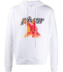 off-white plastic fish printed hoodie