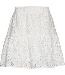 nublessing skirt kort kjol vit nümph