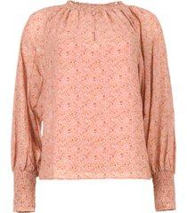 blouse met bloemenprint enzo  roze