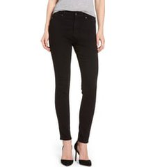 women's ag farrah high waist ankle skinny jeans, size - (super black) (nordstrom exclusive)