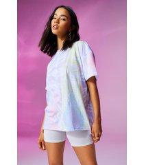 oversized tie dye c'est la vie t-shirt, pink