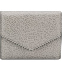 maison margiela textured wallet - grey