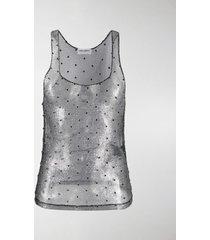 saint laurent chain link embellished sleeveless top