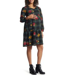 women's everly grey tara long sleeve maternity/nursing dress