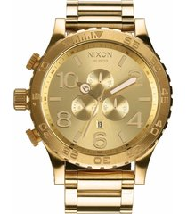 nixon 'the 51-30 chrono' watch, 51mm in gold at nordstrom