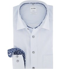 comfort fit olmyp overhemd blauw-wit gestreept