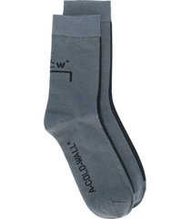 a-cold-wall* logo print socks - grey