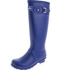 botas lluvia altas wellington bottplie - azul profundo matte