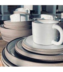ceramiczny kubek + talerz carbon