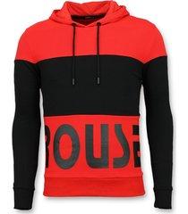enos hoodie heren slim fit rood