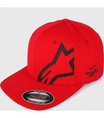 gorra rojo-negro alpinestars corp shift sonic