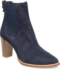 boots 7792 shoes boots ankle boots ankle boot - heel blå billi bi