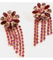 juliet jewel flower statement earrings - magenta