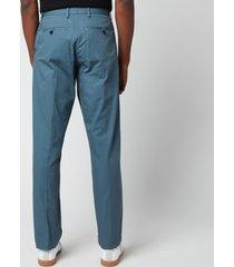 maison margiela men's cotton canvas trousers - steel blue - w38