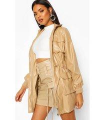 pu utility pocket jacket