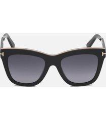 tom ford women's julie sunglasses - shiny black/smoke mirror