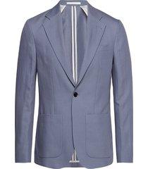 m. dean drapey linen jacket blazer colbert blauw filippa k