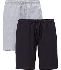 bermuda men plus zwart::grijs