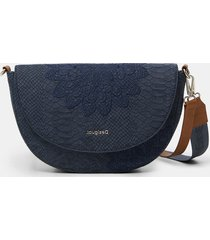 crossbody bag reptile leather-effect - blue - u