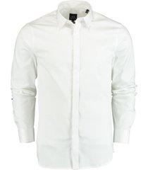 armani exchange overhemd stretch wit slim fit 8nzcbd.zn10z/0113