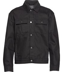 denim jacket stay black jeansjacka denimjacka svart wesc
