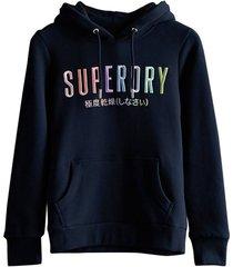 hoodie rainbow donkerblauw