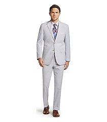 1905 collection tailored fit seersucker stripe men's suit - big & tall clearance by jos. a. bank