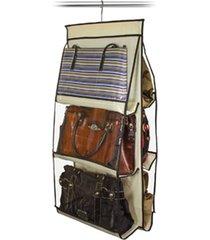 organizador de bolsas vb home para cabide marfim - tricae