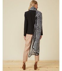 amaro feminino lenço leopard, onca black