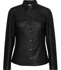 26 the leather shirt långärmad skjorta svart denim hunter