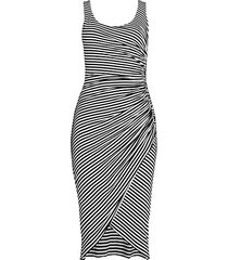 venice striped ruched dress
