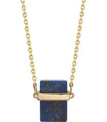 "unwritten fine silver plated genuine stone necklace, 16""+2"" extender"
