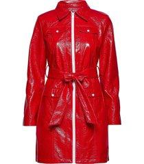maryann jacket trenchcoat lange jas rood résumé