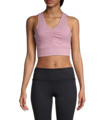 nine west women's ruched sports bra - mauve - size s