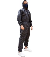 overol impermeable hombre negro
