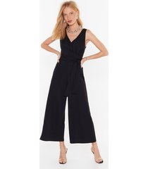 jump around v-neck wrap jumpsuit
