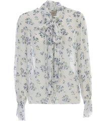 be blumarine shirt l/s w/scarf on neck voille