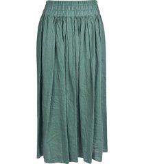 aspesi wide pleated skirt