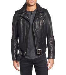 handmade motorcycle genuine leather jacket, new men black biker leather jackets