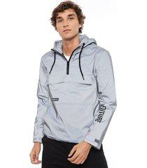 chaqueta only & sons john reflectante plateado - calce regular