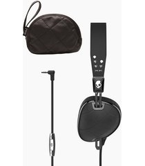 audífonos skullcandy knockout quilted con micrófono 3 - negro y cromado