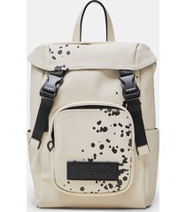 small arty canvas backpack - white - u