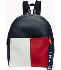 tommy hilfiger women's colorblock backpack navy/red/white -