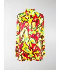 balenciaga floral print scarf shirt