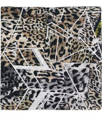 preen by thornton bregazzi leopard printed scarf - black