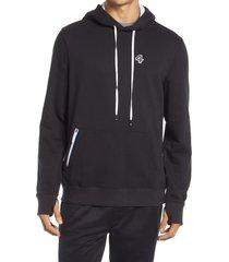 men's fourlaps rush zip hoodie, size large - black