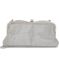 la regale women's embellished convertible clutch - white gold