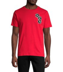 wesc men's max chance t-shirt - red - size m