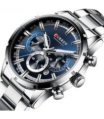 curren reloj hombre deportivo cronometro analogo fechador