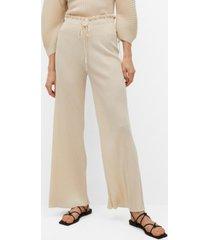 mango women's pleated palazzo pants